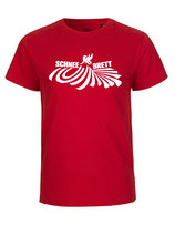 Schneebrett T-Shirt Powder rot Kids