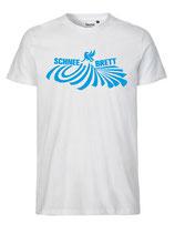 Schneebrett T-Shirt Powder weiß Unisex