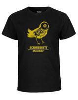 Schneebrett T-Shirt Rocker schwarz-gold Kids