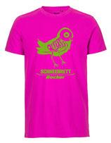 Schneebrett T-Shirt Rocker pink-neongrün Unisex
