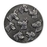 Emblem Hunde 3D Resin 70mm