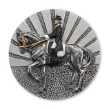 Emblem Reiten Dressur 3D Resin 70mm