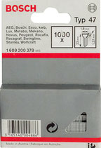 Bosch Tackernägel Typ 47 und Typ 48