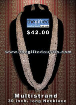 Multistrand 30 Inch. Long Necklace