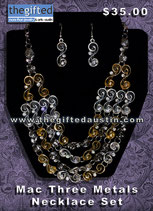 Mac 3 Metals Necklace Set