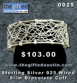 Sterling Silver 925 wired Slim Bracelete Cuff