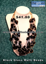 Black Glass Multi Beads