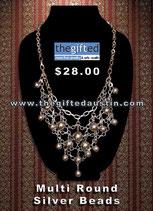 Multi Round Silver Beads