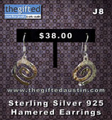 Sterling Silver 925 Hamered Earrings