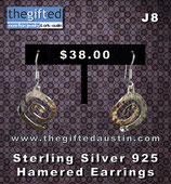Sterling Silver 925 Hamered Earrings