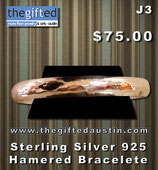 Sterling Silver 925 Hamered Bracelete