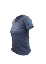 T-Shirt V-Neck blau (Ladies)