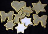 Traueroblate® mit Goldumrandung
