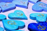 """Traueroblate® """"Blaues Herz - Glaube Liebe Hoffnung"""""""