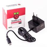 offizielles Raspberry Pi USB-C Netzteil 5,1V / 3,0A, EU, schwarz