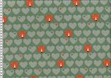 Bär mit Herzen, Baumwolljersey, Schilf/Taupe, byGraziela, Swafing