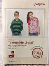 Maxi, Teenieshirt, Papierscnnittmuster, Pattydoo, versandkostenfrei