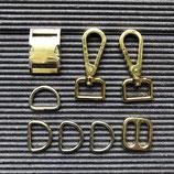 Austausch Verschluss + Karabiner in gold 2cm Breite