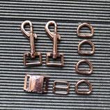 Austausch Verschluss + Karabiner in rosegold 2,0cm/2,5cm Breite