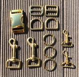 Austausch Verschluss + Karabiner in gold 2,50cm Breite Alumaxx Verschluss