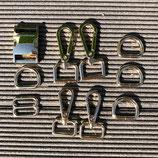 Austausch Verschluss + Karabiner in hellgold 2cm Breite