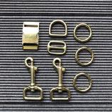 Austausch Verschluss + Karabiner in gold 2,5cm Breite