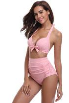High Waist Bikini mit Neckholder Top