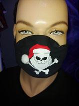 Weihnachtsschnutenpulli Skull mit Bommel