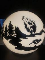 Wolfslampe rund