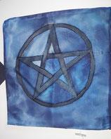 Seiden-Kissenhülle  Pentagram 40x40cm