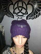 Mütze Beanie Lila Drache