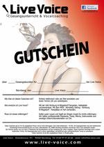 """Live Voice - Geschenkgutschein """"Gesangsunterricht"""""""