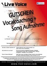 """Live Voice - Geschenkgutschein """"Coaching & Recording"""""""