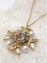 [Sold out]サフィレット&パールネックレス Necklace-NO36