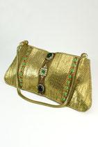 [Sold Out]クラッチバッグ(ゴールド×グリーン&ブラック) AN-1275GB