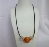 Bandkette orange/silber