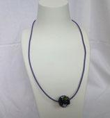 Bandkette lila/schwarz