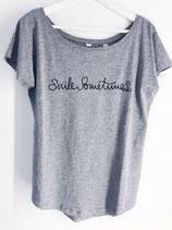 T-Shirt Redirection Smile Sometimes Grey / Black