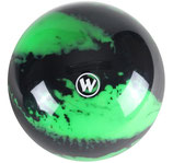 WINNER Vollkugel 160 mm in Neongrün-Schwarz (marmoriert)