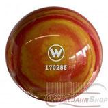 WINNER Vollkugel 160 mm in Rot-Gelb (marmoriert)