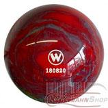 WINNER Vollkugel 160 mm in Rot-Grau (marmoriert)