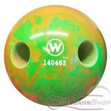 WINNER Lochkugel 160 mm Neongrün-Orange marmoriert