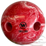 WINNER Lochkugel 160 mm Rot-Weiß marmoriert
