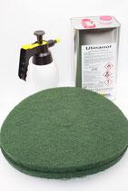SET GRUNDREINIGUNG  für  Kugellaufflächen aus Epoxidharz bzw. Plattenwerkstoffen