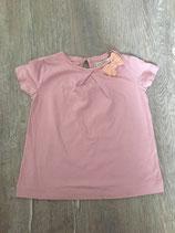 2156 Long Shirt altrosa mit Glitzeschleife von ZARA  Gr. 92