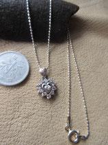 Silver925  純銀 CZ ハートペンダント (sv925チェーン,40cm ) 3.6g  n588