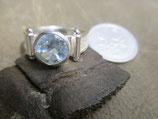 Silver925 シルバーリング* 天然石ブルートパーズ* #8  n899