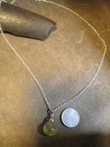 金針水晶、ルチルクォーツ ペンダント (  Silver 925  シルバーチェーン、45cm  )   S9