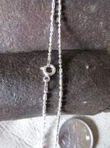 イタリア製シルバー 925チェーン 1.5mm40cm 2.6g*bead1+1d/c150