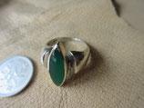Silver925 Ring  純銀・指輪  グリーンオニキス  15号  6.8g  n582